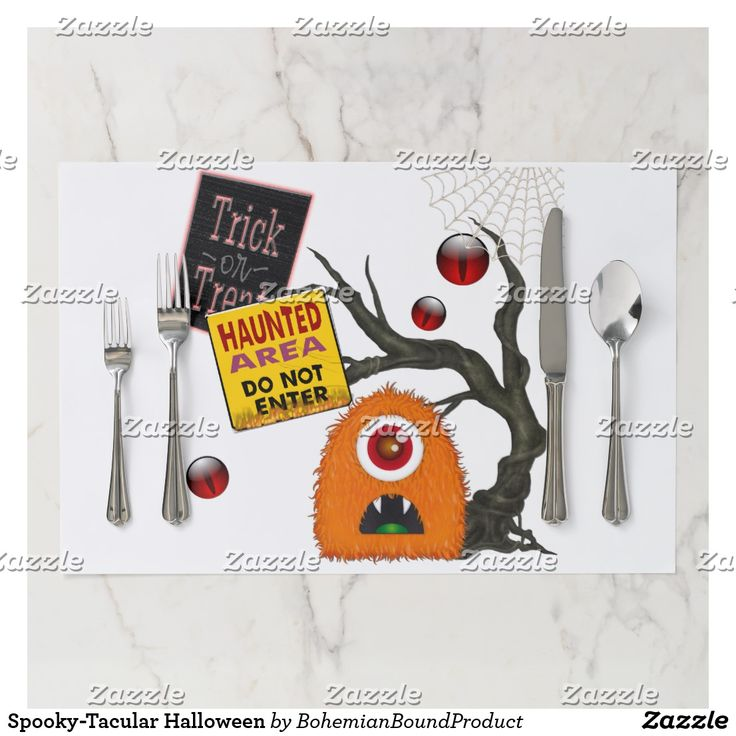 Spooky-Tacular Halloween Paper Placemat