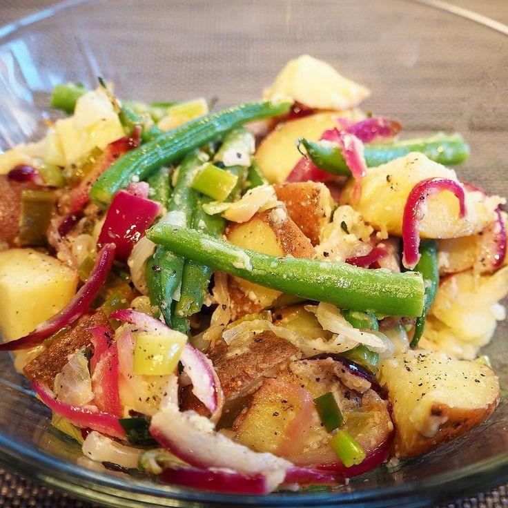 Mmm potetsalat er godt tilbehør til grillmaten