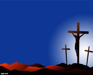 If you are looking for Christian PowerPoint templates for free then you can consider to download thisCrucifixion PowerPoint background design for religious PowerPoint presentations