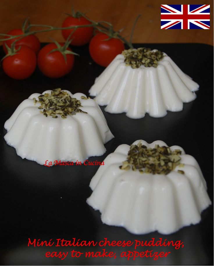 Mini Italian cheese pudding, easy to make, 5 minutes to fix (and then rest in the fridge), appetizer or side dish with salad
