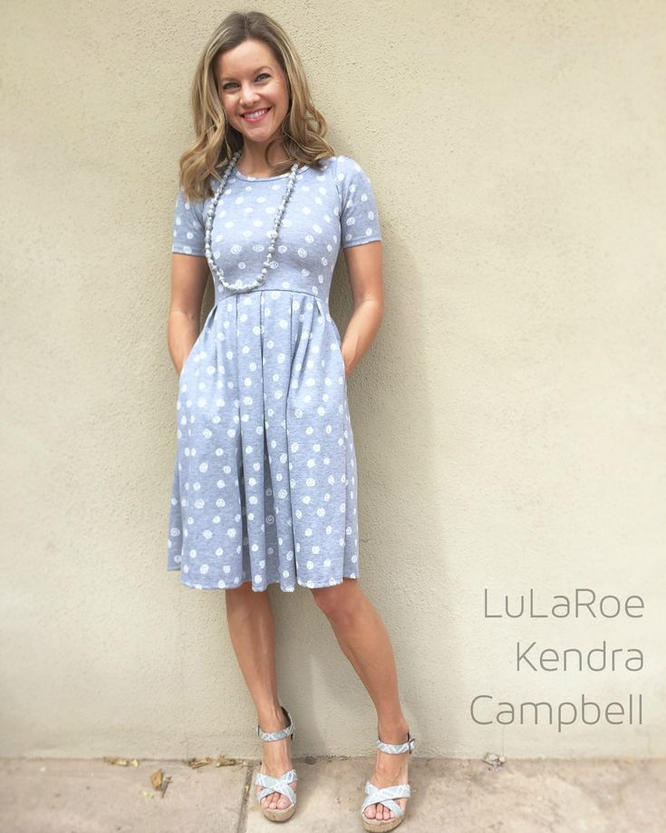 The stretchy knit fabric of the LuLaRoe Amelia dress makes it comfortable and versatile enough to wear all day, or on a fancy night out. The Amelia dress features a YKK zipper closure up the back and hand-…