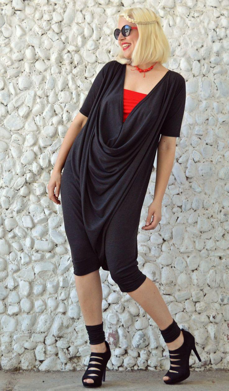 Now selling: Extravagant Grey Jumpsuit / Grey Short Jumpsuit / Summer Jumper TJ21 https://www.etsy.com/listing/290961921/extravagant-grey-jumpsuit-grey-short?utm_campaign=crowdfire&utm_content=crowdfire&utm_medium=social&utm_source=pinterest