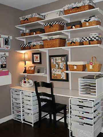 Scrapbook Organization And Storage | Shelves and Storage Bins Keep Scrapbooking Supplies Close To Your Work ...