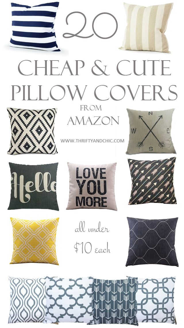 Cheap and Cute Pillow Covers From Amazon