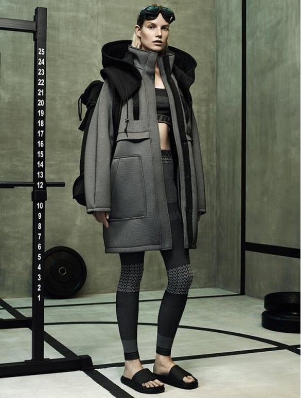 Alexander Wang for H&M // Oversized coat paired with leggings.