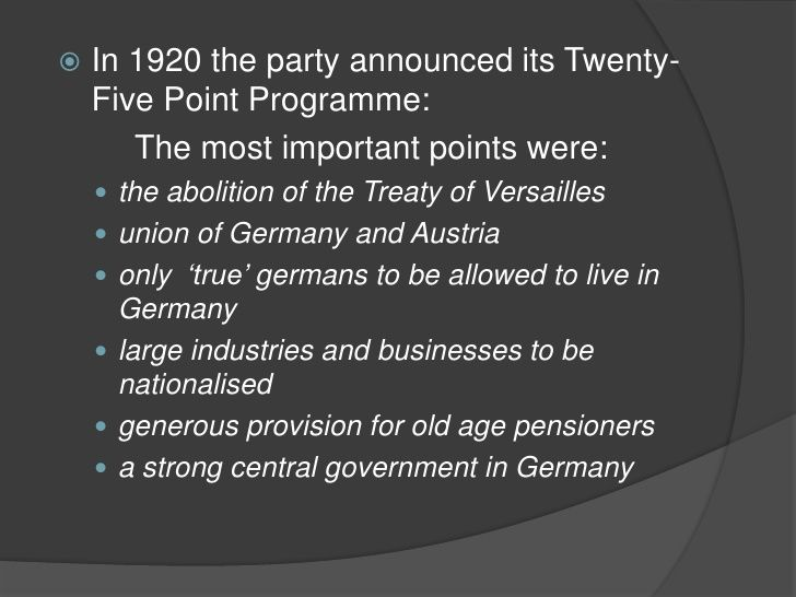 """Point 17 (land reform, legal land expropriation for public utility, abolishment of the land value tax, and proscription of land speculation), in the hope of winning the farmers' votes in the May 1928 elections. Hitler disguised the implicit contradictions of Point 17 of the National Socialist Program, by explaining that """"gratuitous expropriation concerns only the creation of legal opportunities, to expropriate, if necessary, land which has been illegally acquired, (CODE: Jews)"""