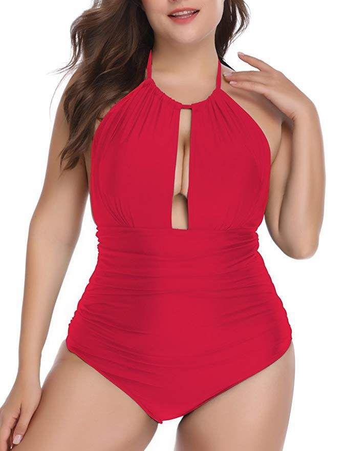 8499015f6f2ea Women's Plus size One Piece Swimsuit Tummy Control Swimwear Monokini Bathing  Suit. Resort Swim. One piece. #swimwear #plussize #beach #resortfashion ...