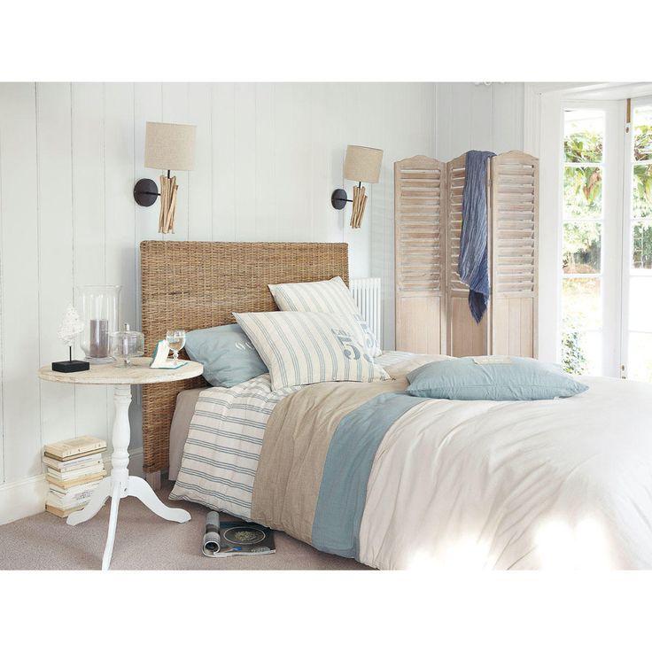 affordable parure de lit x cm en coton blanche maisons du monde with housse de couette maison du