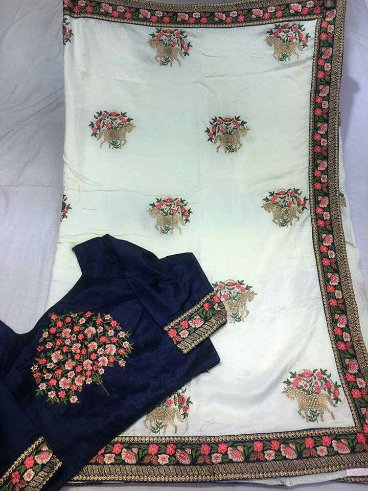 Desginer sarees and Blouses r semistiched Order what's app 7995736811