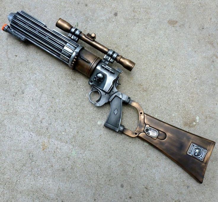 Steampunk Gun...is that a machine gun? Sweet!