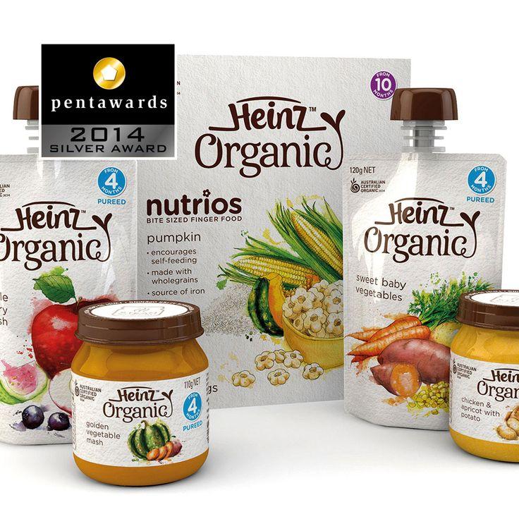 Silver Pentaward 2014  Food - Food trends Brand: Heinz Organic Entrant: Point 3 Design Country: AUSTRALIA www.point3.com.au