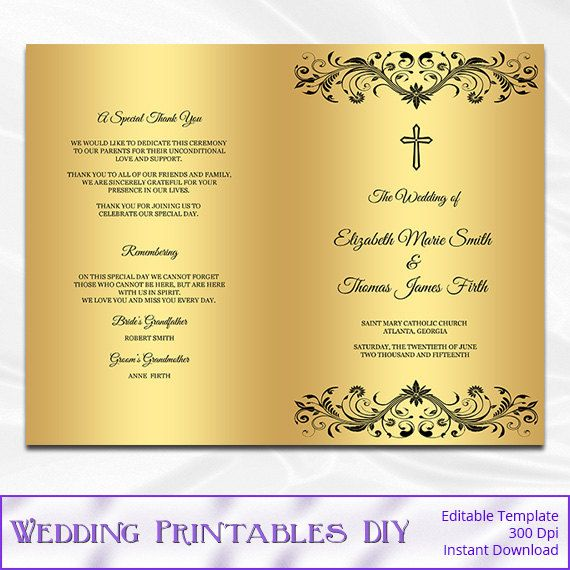 The 25+ best Wedding ceremony booklet templates ideas on Pinterest ...