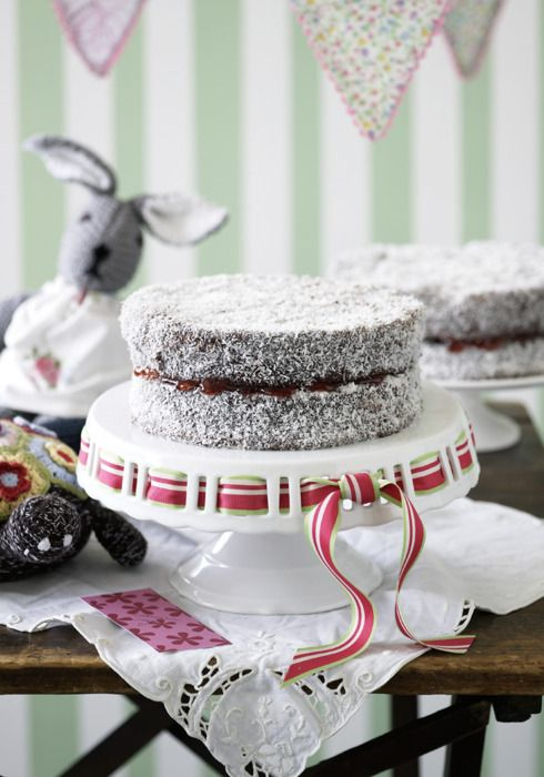 Wonderfully moist lamingtons are a classic fete winner!(Photography by Steve Brown; Recipe by Alison Roberts).