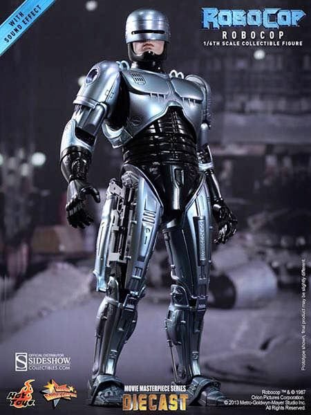 HOT TOYS ROBOCOP DIECAST interchangeable parts w/ battle damage $450US