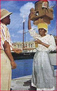 Mauby Woman.  Images of bygone Barbados.