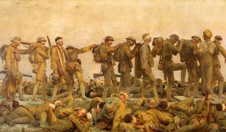 John Singer Sargent Watercolors | ... war: 'Gassed', by John Singer Sargent | World news | The Guardian