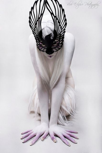 Raven Leather Mask by Tom Banwell