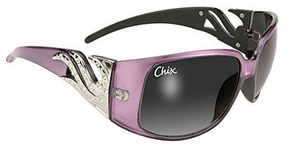 Chix Windsong Glasses Smoke Fade/Purple Frame, Our Windsong blends the hottest fashion and practicality in one Sunglass. Impact resistant lenses provide UV400 sun protection; and exceed ANSI Z80.3 Sta
