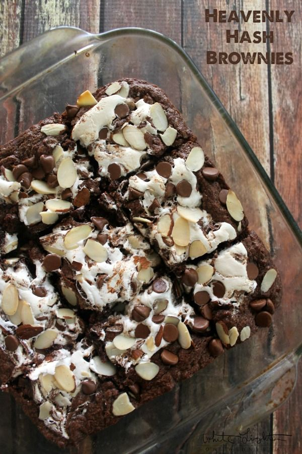 Heavenly Hash Brownies | White Lights on Wednesday: Cups Chocolates ...