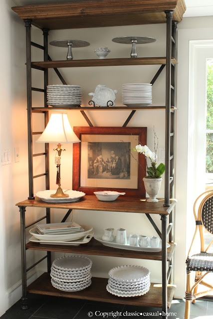 Get the look of this iron and Timber etagere with Journey Home Interior Design