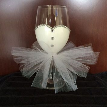 Bride to Be Wine Glass, Bridal Shower from MakeItFierce on Etsy