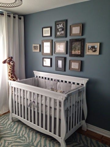 A Safari Themed Nursery With James River Gray By Benjamin Moore Paint In 2018 Colors