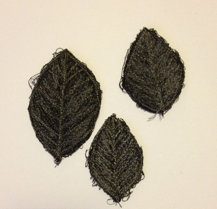 Free motion machine embroidery leaves on dissolving fabric