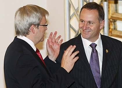 Hands of Kevin Rudd — demonstrating Australia's hand prowess over New Zealand.