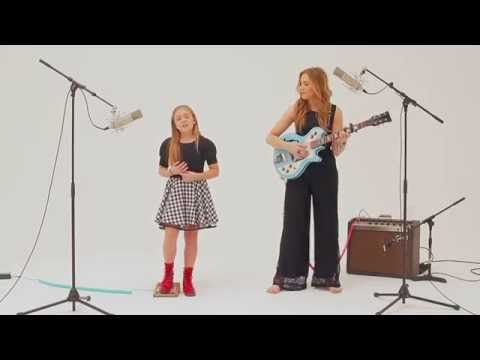 """Singing sisters Lennon and Maisy beautifully slow down """"Boom Clap"""" with just a guitar and their voices   Rare"""