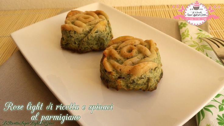 Rose light di ricotta e spinaci al parmigiano (60 calorie l'una)