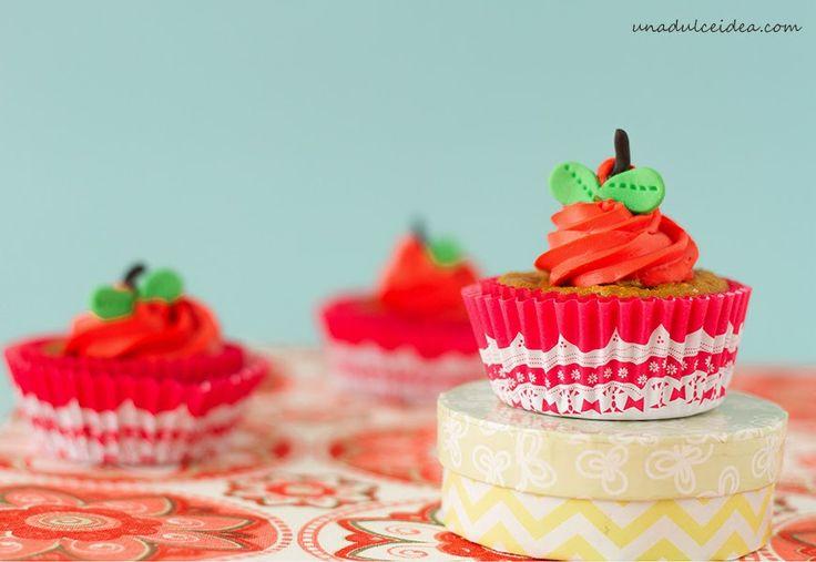 """Una Dulce Idea: Cupcakes de Manzana:  Sin azúcar para """"Conservar l..."""
