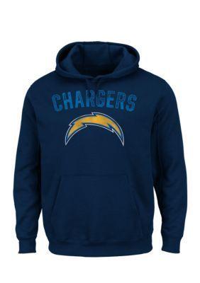 Majestic Navy Blue San Diego Chargers Kick Return Hooded Fleece Sweatshirt