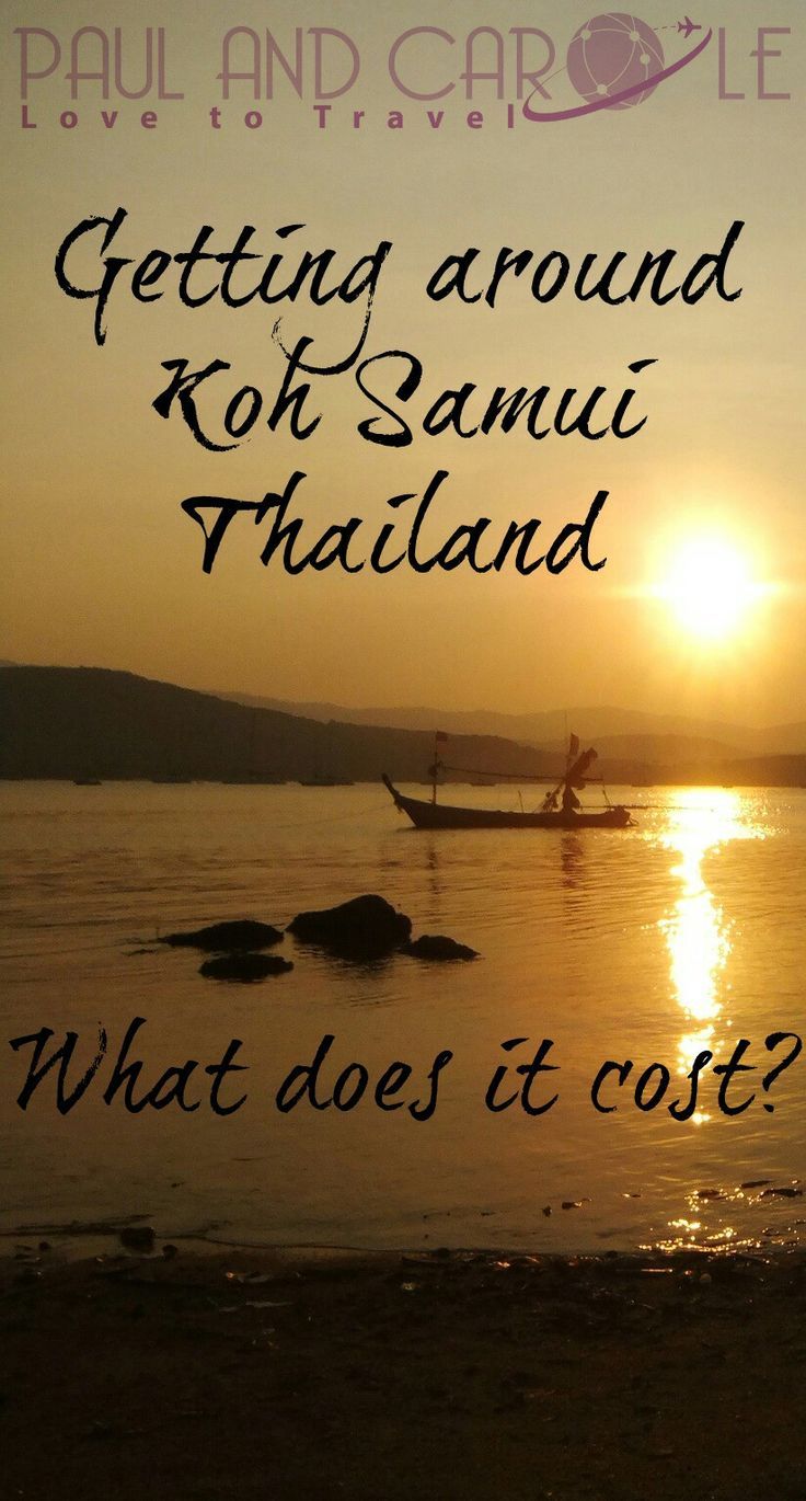 Budgeting for your holiday is not always easy. We travel to Koh Samui in Thailand regularly and have put this post together on how much it costs to get around. We hope it helps you understand what the options are and how to plan your budget.