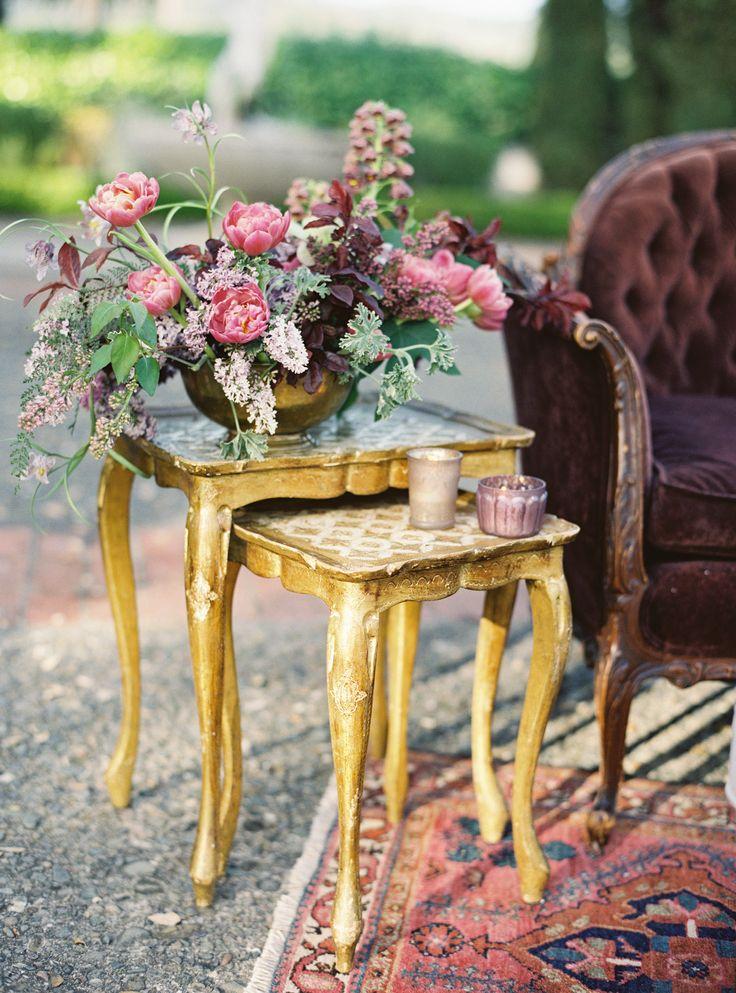 Vintage Weddings Wedding Inspiration California Details Flowers Boho