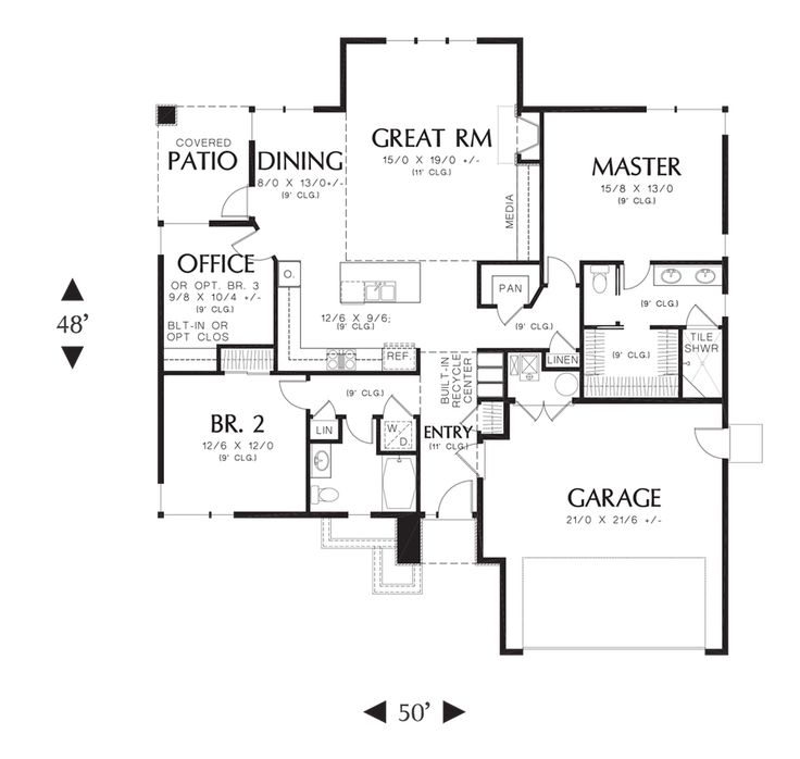 Home Plans, Small and Energy efficient on Pinterest  House plans ...