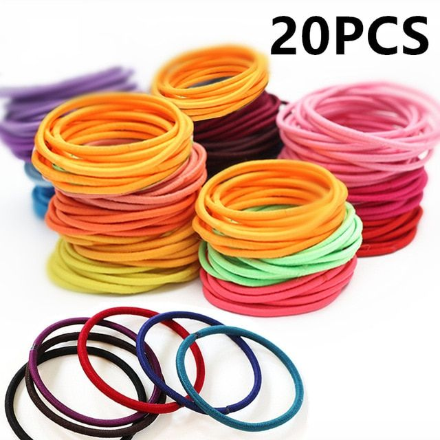 20pcs Hair Accessories For Girls Women/'Rubber Bands Ponytail Holder Hair-Elastic