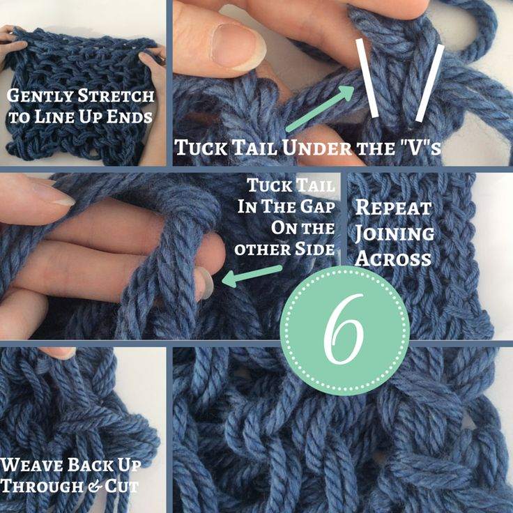 How to Arm Knit Step by Step Instruction Infinity Scarf