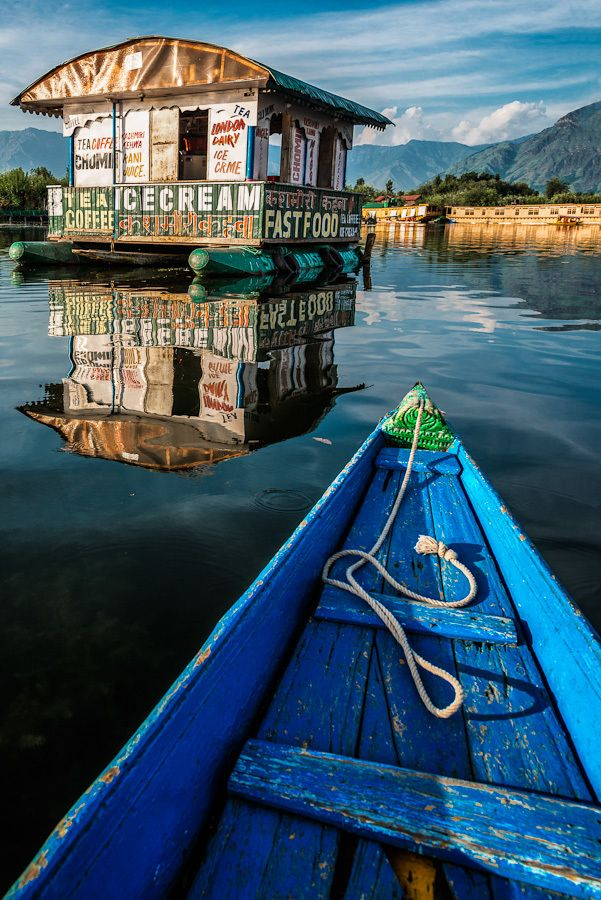 Srinagar - we actually stayed in a houseboat that was very near this cafe on stilts