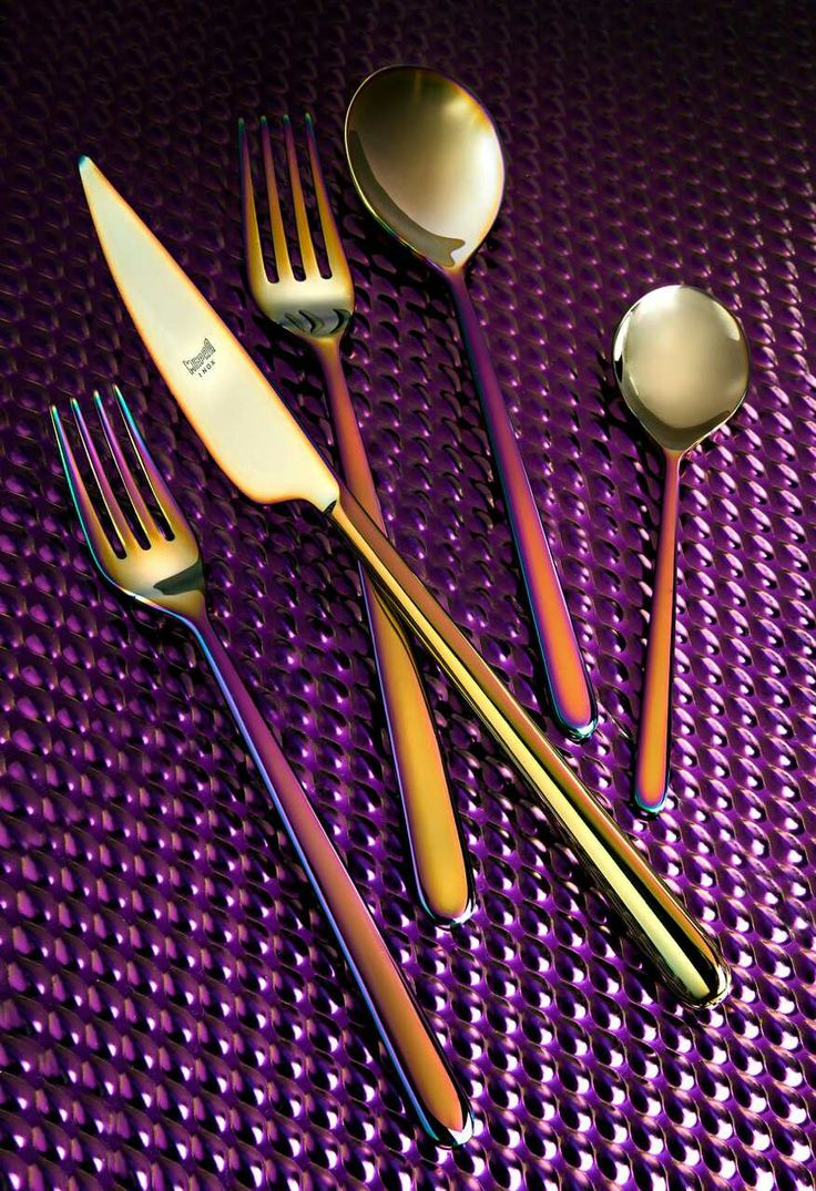 best  industrial flatware ideas on pinterest  contemporary  - mepra linea rainbow mepra's latest finish metalilc colors a little bitindustrial and · modern flatwaregold