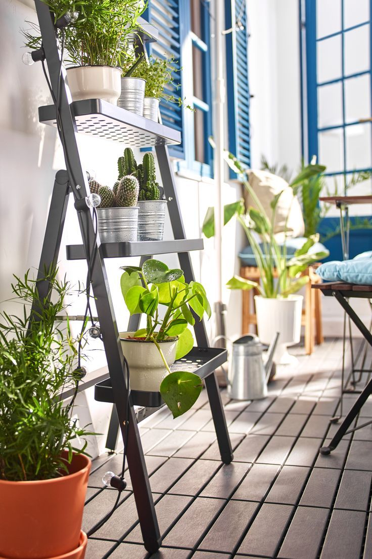 Arredare Il Balcone Ikea salladskÅl flower stand, for outdoors, gray - #flower #gray