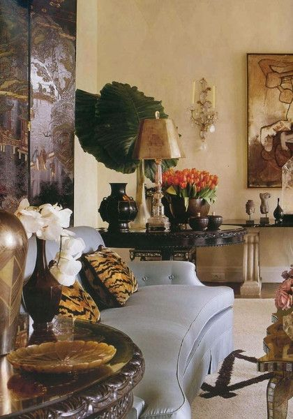 Handsome Living Room By Designer Alberto Pinto Find This Pin And More On Animal Print Interior Decor