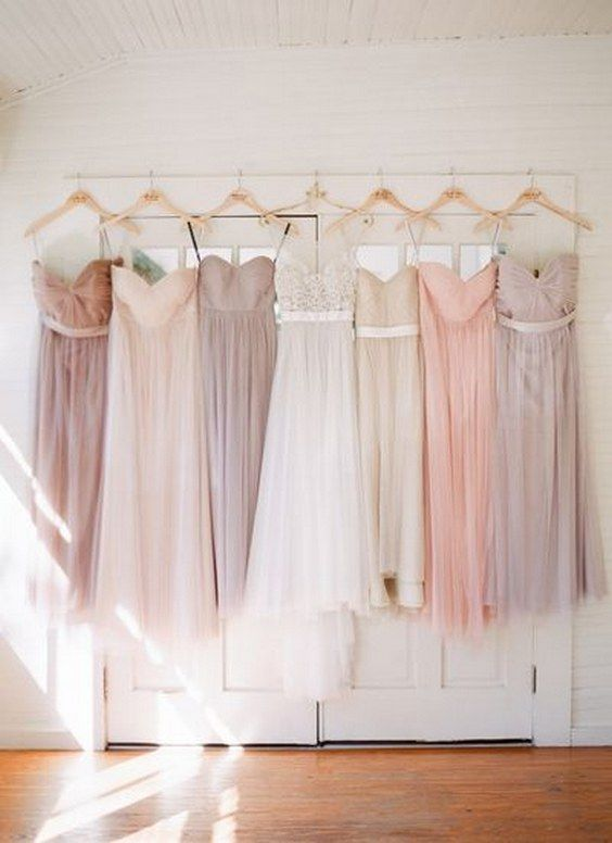 pretty pastel bridesmaid dresses / http://www.himisspuff.com/bridesmaid-dress-ideas/12/