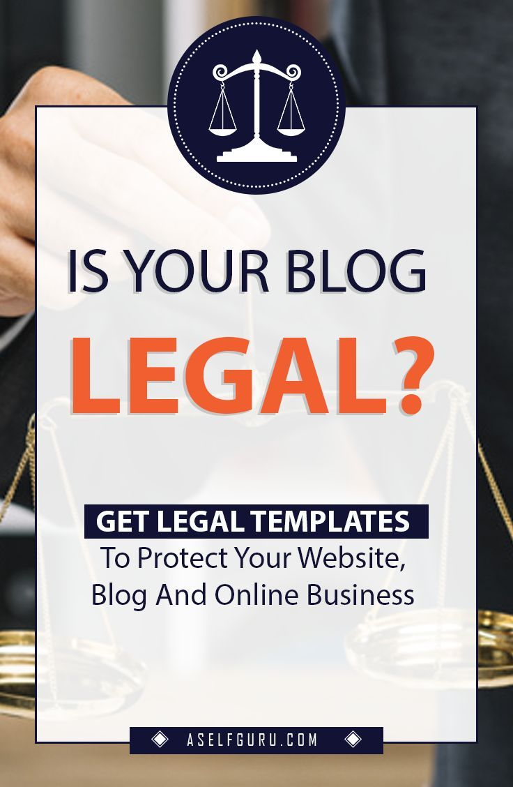 Get All The Legal Templates You Need To Protect Your Blog Website And Online Business Drafted By A Real Exp Blog Legal Online Business Blogging For Beginners