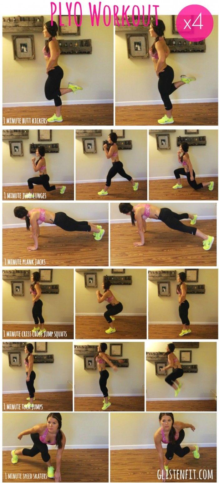 No equipment, calorie blasting plyo workout