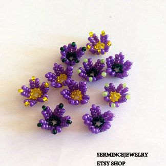 Purple lilly jewelry making 6 PCS  Jewelry by SERMINCEJEWELRY