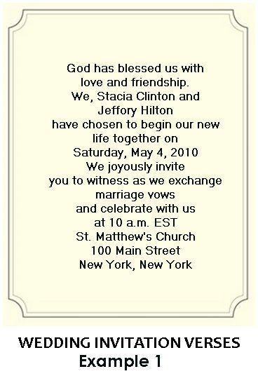 Wedding Invitation Wording Religious : wedding invitation wording laur invites invitation wordings invitation ...