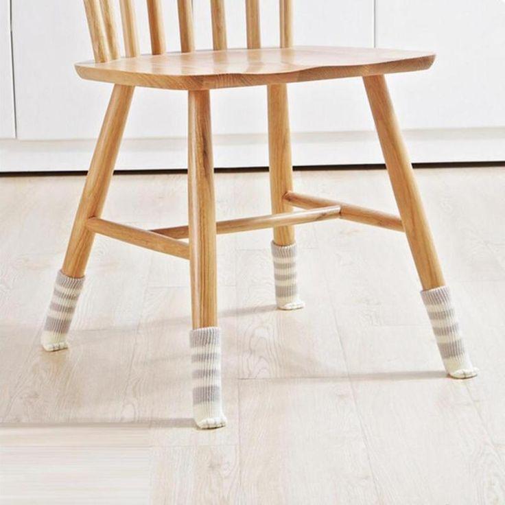 4pcs Chair Leg Socks Home Furniture Leg Floor Protectors Non Slip Table Legs  Sleeve Cat