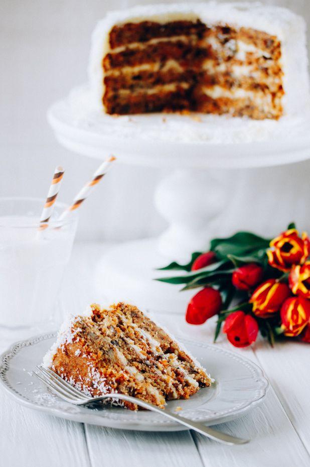 EAT ME!: МОРКОВНЫЙ ТОРТ С МАСКАРПОНЕ И КОКОСОМ / CARROT CAKE WITH MASCARPONE & COCONUT