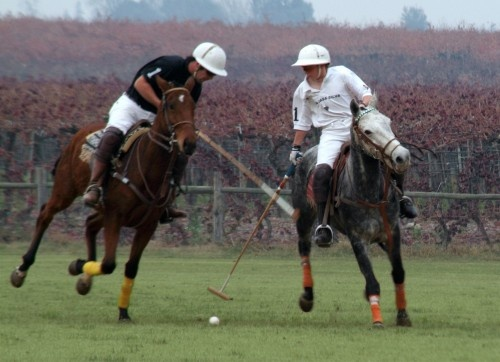 In action at the Polo