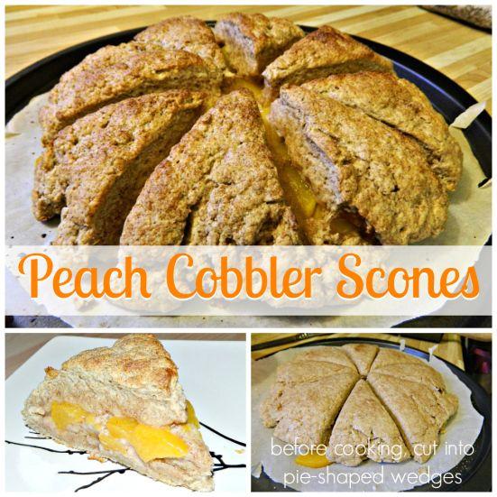 Peach Cobbler Scones | fare | muffins & scones | Pinterest